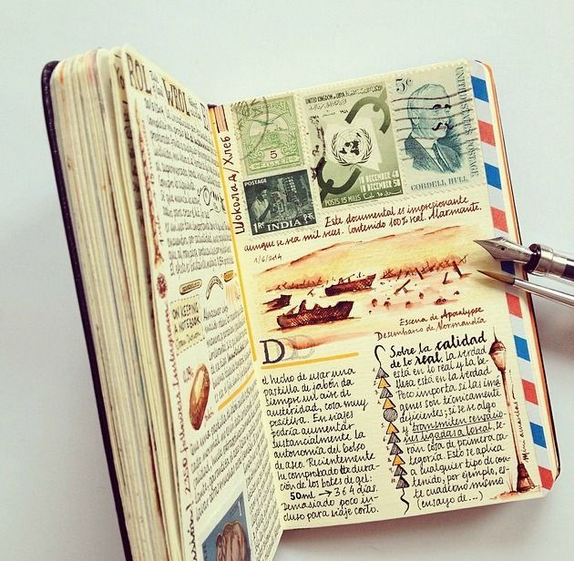 17 best images about journals diaries on pinterest art for Journal painting ideas