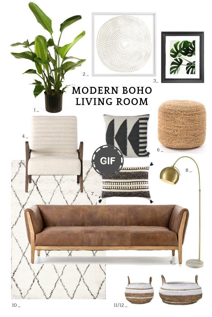 17 idées de salon Boho modernes. Inspiration pour un salon bohème