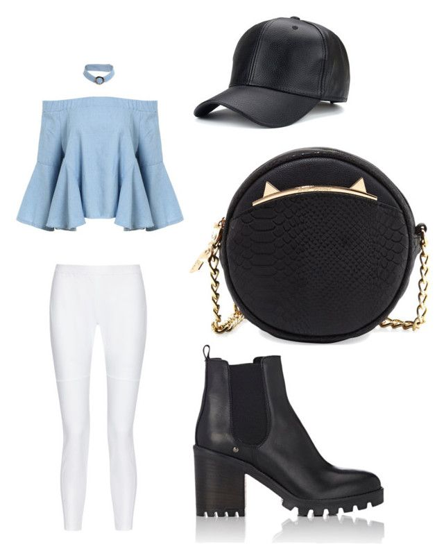 """""""Black"""" by sofia-pedu on Polyvore featuring 10 Crosby Derek Lam, Barneys New York and Betsey Johnson"""