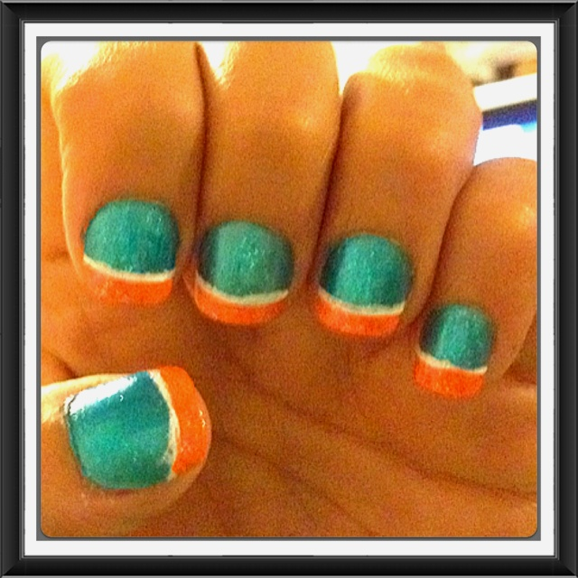 26 best Miami dolphins nail design images on Pinterest | Nail art ...