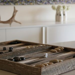 Re Cycled Backgammon Board