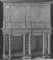 Cabinet luxueux Louis XIII
