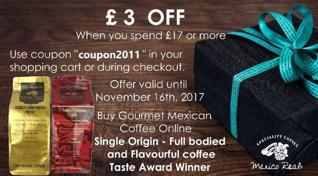 ONLY THOSE WHO DARE, TRULY LIVE! £3 OFF COUPON ON YOUR TOTAL PURCHASE.  Gourmet Mexican Coffee. 1 pack £5.95 #coffeetime #barista #beans #cups #chilled #handsome #cars #style #love #london #canada #fashion #shopping #ristretto  #italian #blog #blogger #beauty #food #drink #sale #mexicorealcafe #mexican