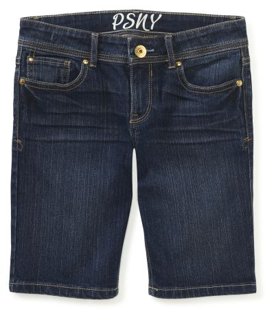 Kids' Dark Wash Denim Bermuda Shorts - PS From Aeropostale