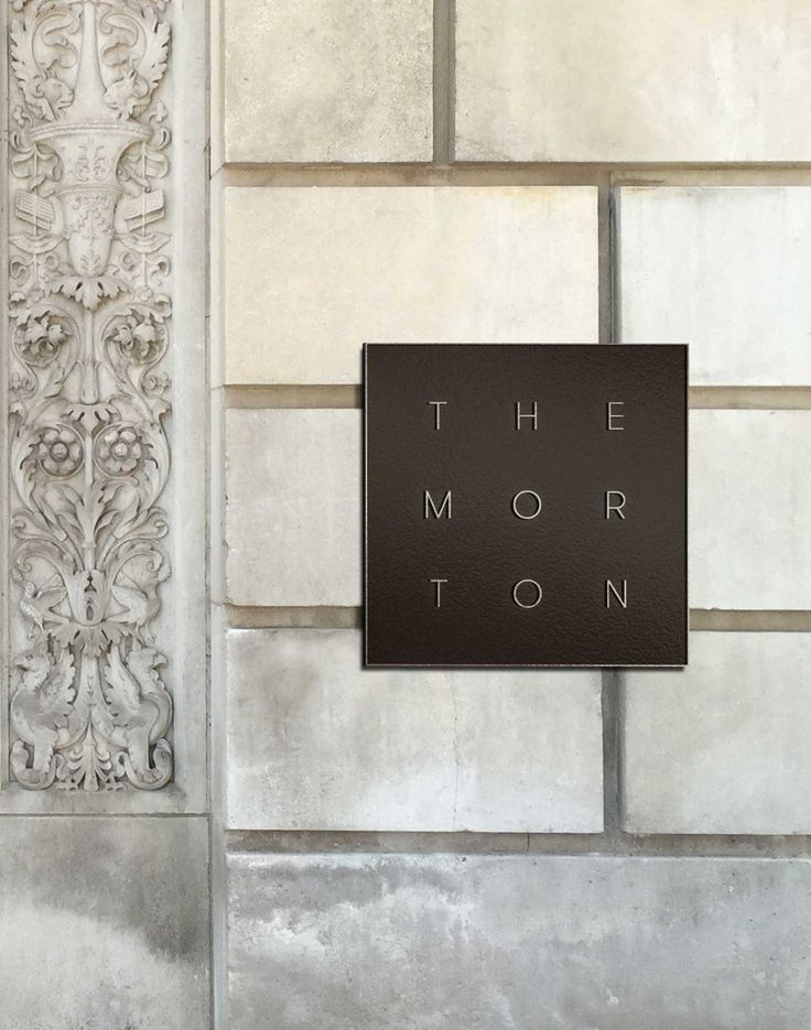 The Morton Branding - Exterior Signage