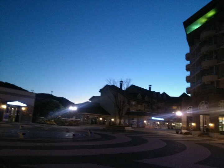 Night view of Alpensia resort