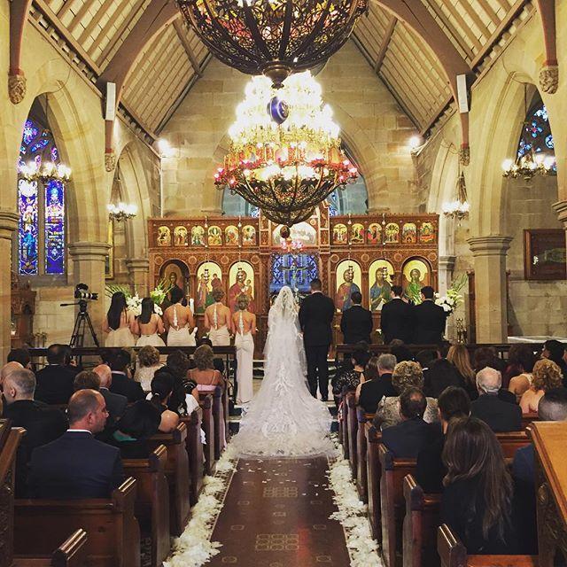 Vivian Lee and Paul's ceremony today. Stunning. Congratulations ❤️ #gmphotographics #professionalphotographer #sydneyphotography #stevenkhalil #professionalweddingphotographer #canonmasterphotographer #masterphotographer #love #ceremony #weddingdress #brideandgroom  Wedding dress@steven_khalil Flowers @bandmflorist Menswear @alexgoodmancustom Makeup @milanijoymakeup