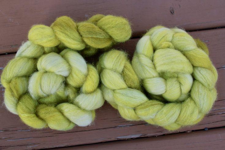 Lemongrass BFL/Silk Braid – FireFlyFibreArts