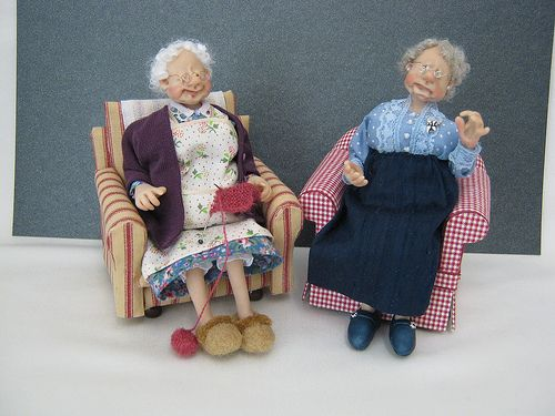 12th Scale Dolls ~ Two Old Ladies. Handmade by Joy Adora Bella Minis | Flickr - Photo Sharing!