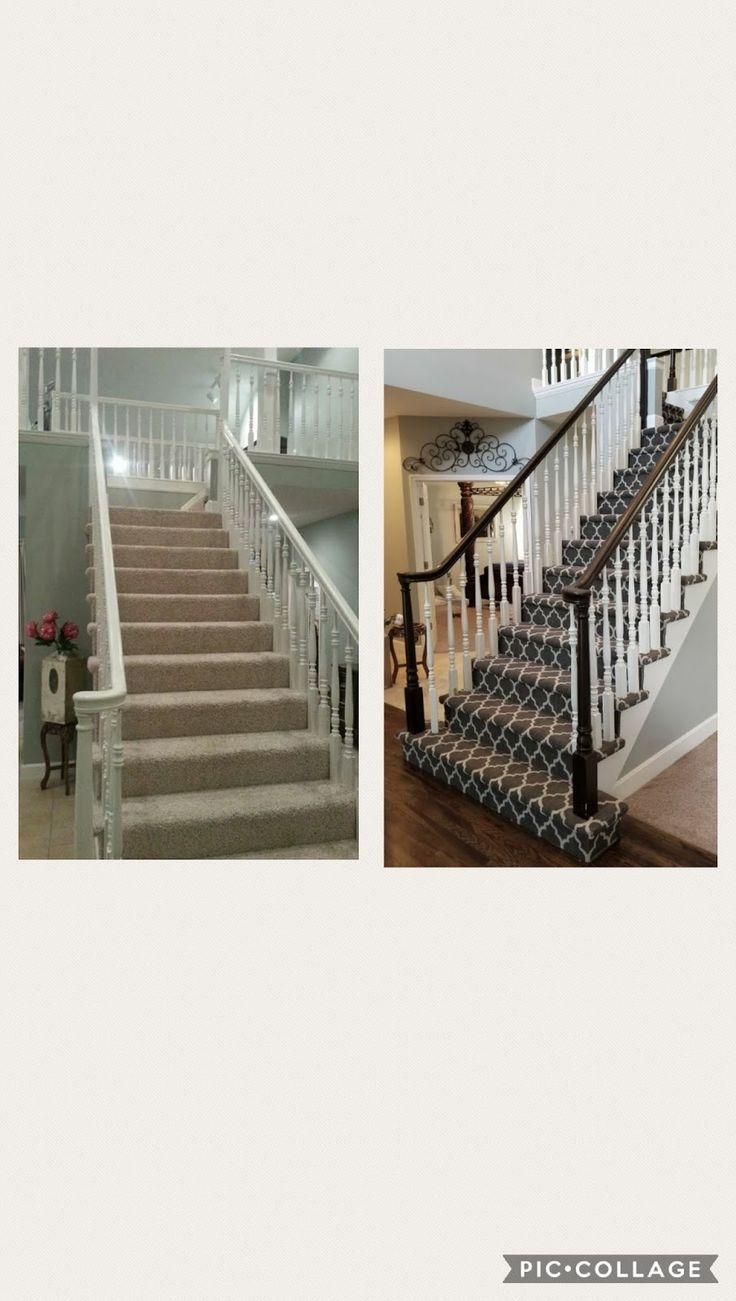 Best Staining Stairs Ideas On Pinterest Stair Makeover Take - 7 cool and very easy diy banister makeovers