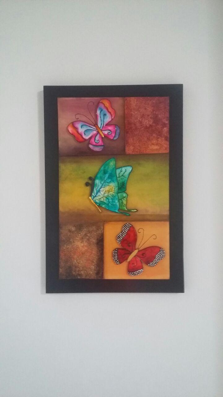 Mariposas en vitral