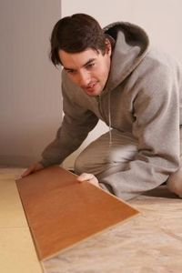 Laminate flooring is a floating floor system, which means you dont nail