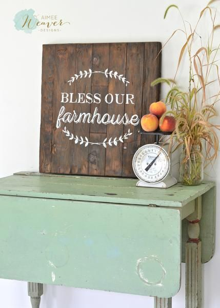 """""""Bless our farmhouse"""" silo door sign by Aimee Weaver Designs"""