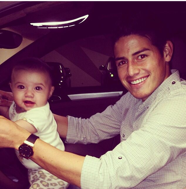 james rodriguez and his daughter @leoniesophie