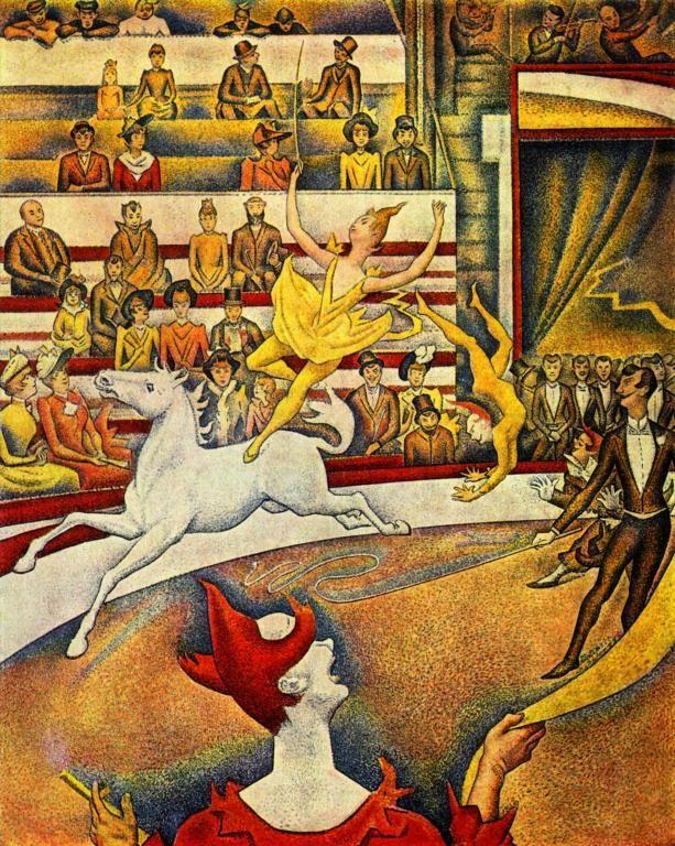 Georges Seurat, Il circo, 1890-91. Olio su tela, Parigi, Museo d'Orsay