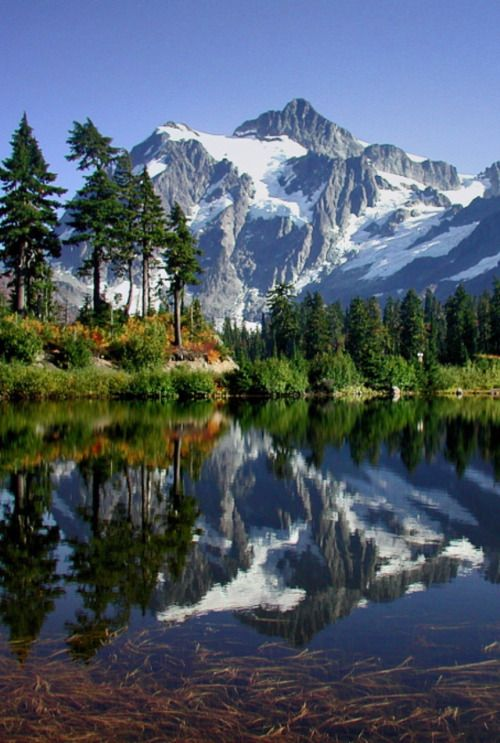 CANADA - i love the country ;-))) #reflection landscape mrror nature mountain lake