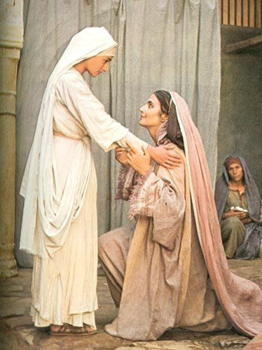 Image result for the visitation Elizabeth Mary Jesus of Nazareth