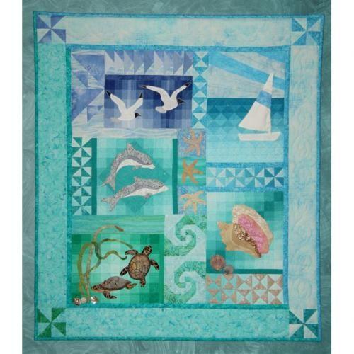 Ocean Quilt kit by Donna Burkholder as seen at TAFA