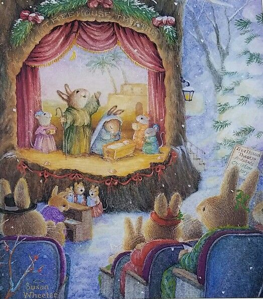 Susan Wheeler ~ ~ ~ look at those little carolers at the foot of the stage!!