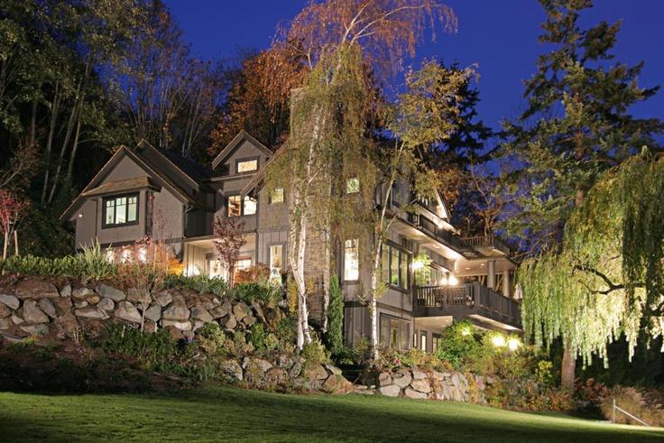 Beautiful custom home we built right on the lake in Mercer Island, WA.