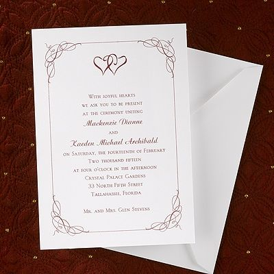A Great Wedding Invitation Idea For A Bride With Hearts In Her Theme.  United Hearts