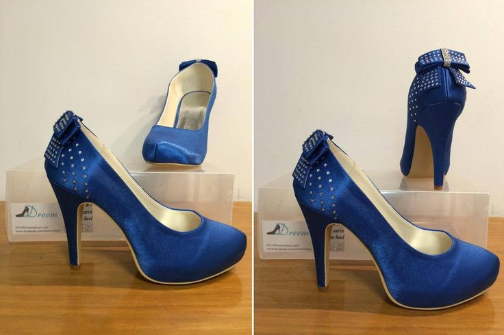 Made to order model 7 Blue satin 11cm heel  Size 4-11 $99 (includes free postage)  THESE ARE PART OF OUR CUSTOM ORDER RANGE- 26 COLOUR & FABRIC COMBINATIONS WITH 7 HEEL HEIGHTS www.dreemshoes.com