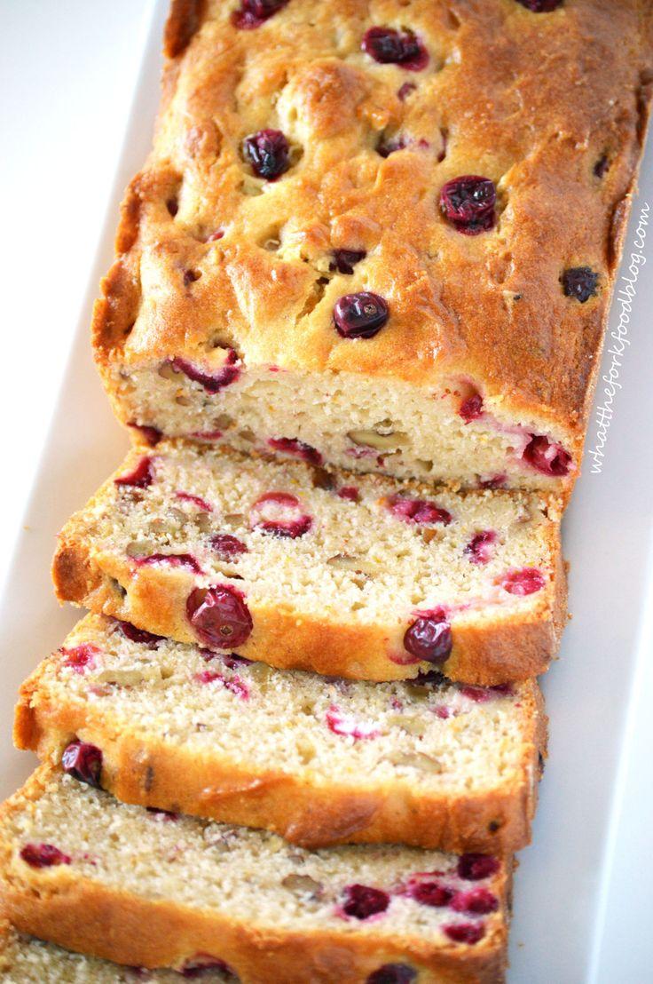 Cranberry Orange Walnut Bread - a delicious gluten free bread recipe, perfect for the Thanksgiving table - FaveGlutenFreeRecipes.com