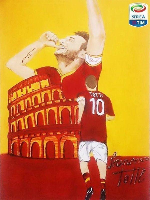 Fajny rysunek ze świetnym włoskim piłkarzem AS Romy • Francesco Totti czyli żywa legenda AS Romy i Serie A • Wejdź i zobacz więcej >> #totti #football #soccer #sports #pilkanozna