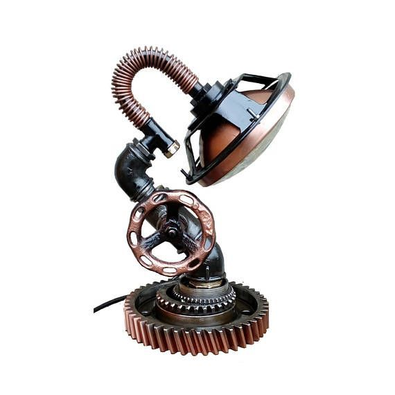 Industrial style lamps, Steampunk lamps for sale, Industrial style light bulbs, Living room table lamps, Industrial desk lamp