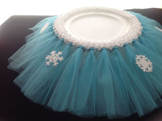 Frozen Inspired Cake Stand Tutu by ThePolkaDottedRoom on Etsy