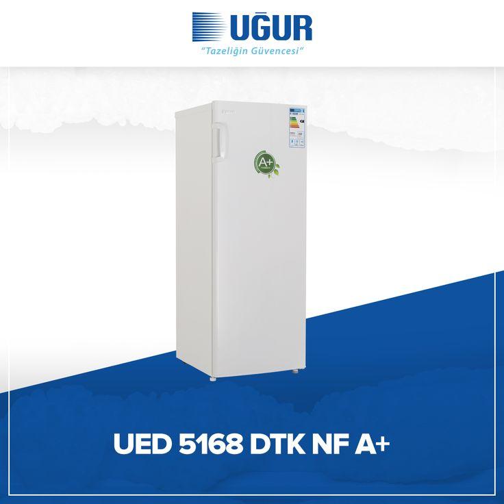 UED 5168 DTK NF A+ birçok özelliğe sahip. Bunlar; no-Frost (Otomatik defrost), çıkarılabilir şeffaf çekmeceler, mekanik ısı kontrol sistemi, gömme kapı kolu, ayarlanabilir ayak ve pratik açılır kapak. #uğur #uğursoğutma