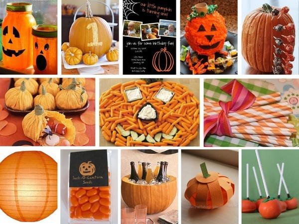 1st birthday; pumpkin theme