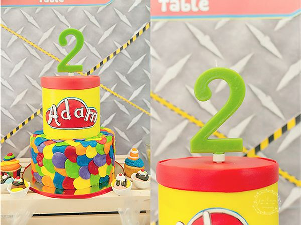 Dazzling Play-Doh Party | Play-Doh birthday cake | Play-Doh birthday party | http://babyandbreakfast.ph/2016/08/10/dazzling-play-doh-party/ | Photo: Jo Lim Photography