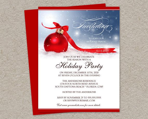 96 best printable christmas and holiday party invitations images diy printable holiday party invitation christmas invitations festive corporate holiday party invitation template christmas invites pronofoot35fo Gallery