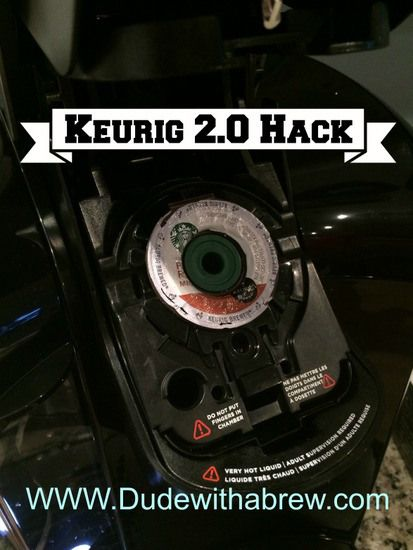 Keurig 2.0 HACK - how to use old reusable filters to brew ground coffee in the new Keurig 2.0.
