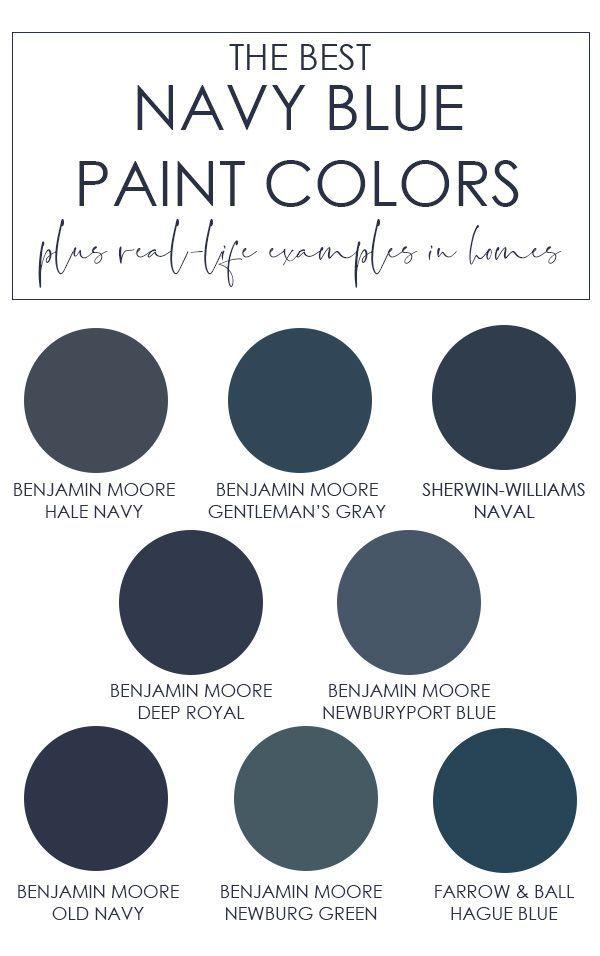 The Best Navy Blue Paint Colors Navy Blue Paint Colors Blue Paint Colors Navy Blue Paint