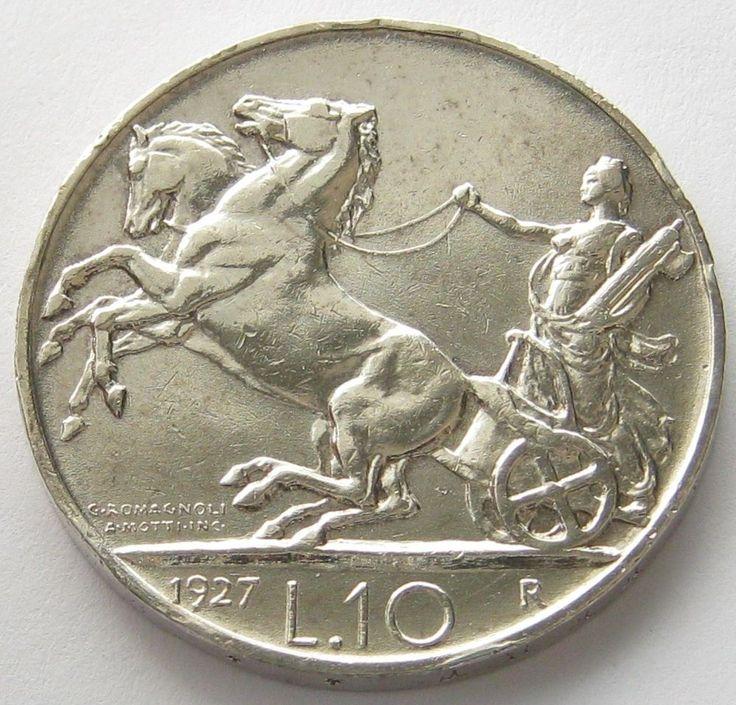 Italy, Silver Coin, 10 Lire 1927 R, ** FERT **, Top High Grade !