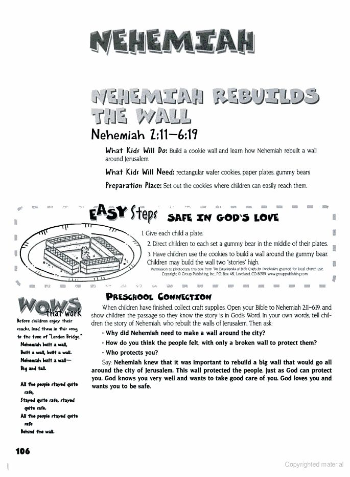 The Encyclopedia of Bible Crafts for Preschoolers - Group Publishing - Google Books-Nehemiah rebuilds wall