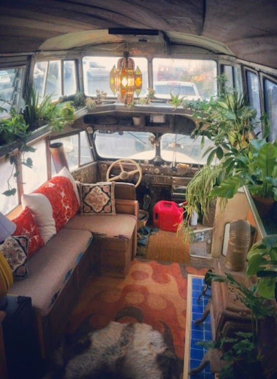 Hippie Van Interior!