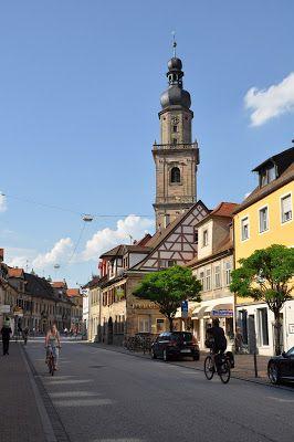 Main Street in Erlangen, Germany