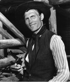 """""""Shane"""" (1953) - Jack Palance as notorious Wyoming gunman 'Jack Wilson' - Based on novel by Jack Schaeffer - Directed by George Stevens - Paramount."""