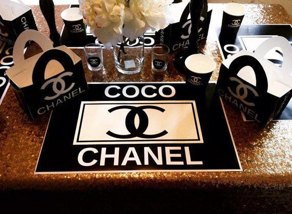 12 Coco Style Custom Placemats van ChicPoshEventDesigns op Etsy