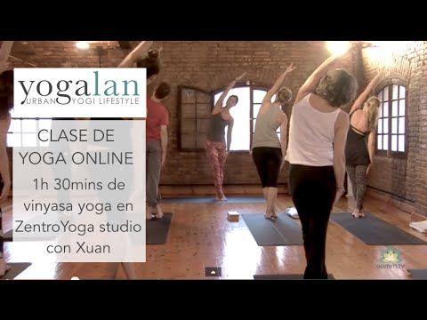 75 mins Clase de vinyasa yoga en Zentro yoga - YouTube