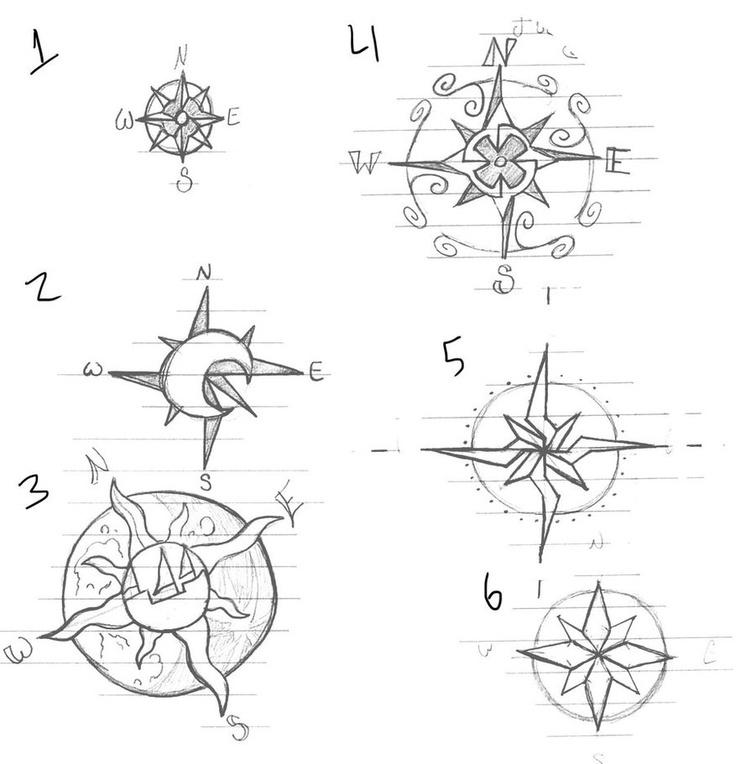 Compass Tattoo Line Drawing : Zentangle compass rose ideas pinterest