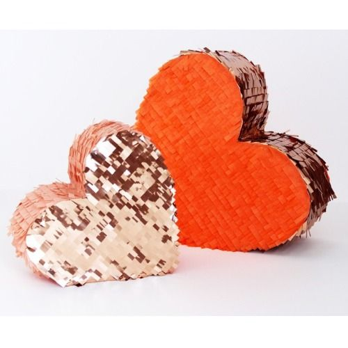 metallic heart pinatas by Confetti System