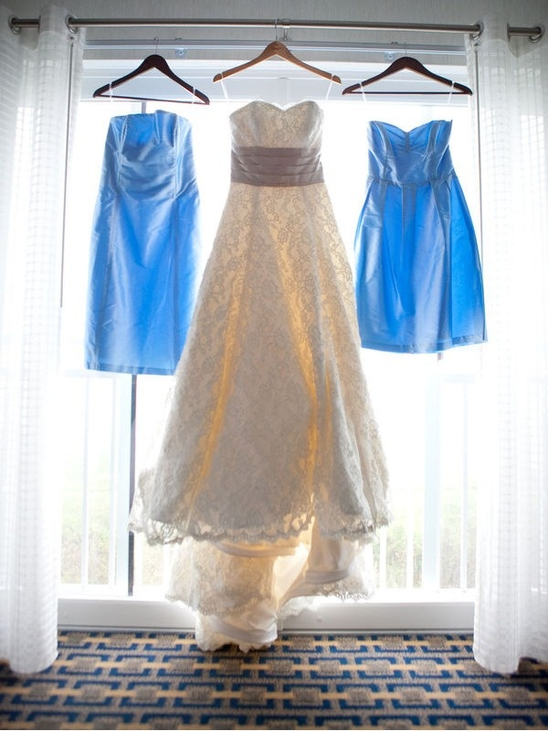 Bridal gown and bridesmaids dresses by Coren Moore for her sister in law's' wedding.