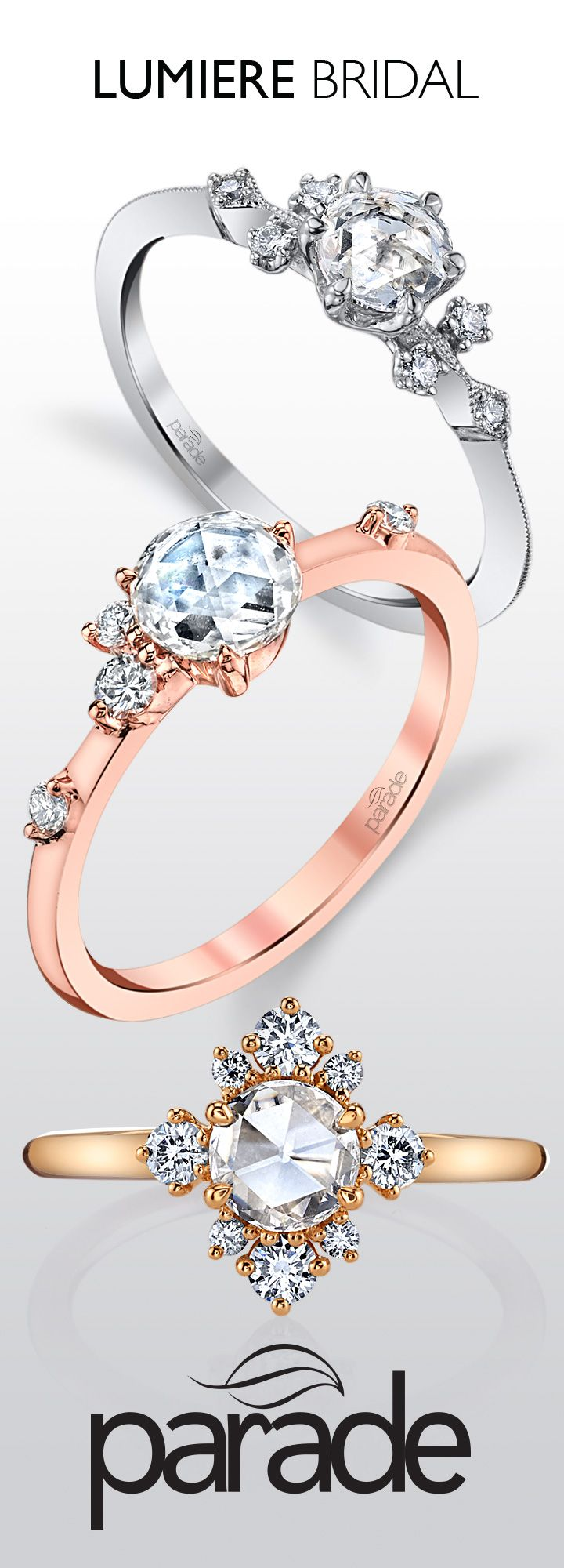 Lumiere Bridal: Exquisitely Feminine, This New Collection Delights With  Charming Rose Cut And Brilliant · Bridal Ringswedding