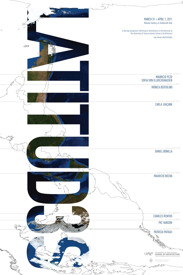 Poster design for symposium - Third Annual Utsoa Latitudes Symposium Poster 2011 Week12 Web5