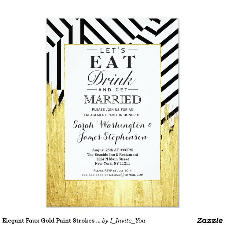 19 best Modern engagement invitations silver and gold images on ...