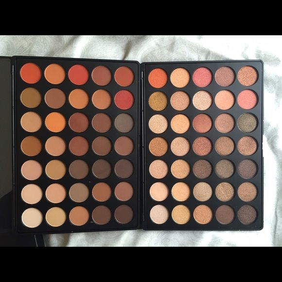MORPHE 35O shimmer and matte palette This item is completely sold out online, new in box and comes with both palettes. Will only sell on mercarï Morphe Makeup Eyeshadow